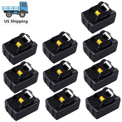 10 X 18 Volt 3.0 Ah 18V Lithium-Ion Battery For Makita BL1815 BL1830 LXT Compact