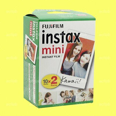 10 Sheet Fujifilm Instax Mini Instant White Film x 2 Pack