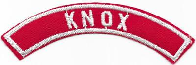 Knox Red and White RWS Community Strip Vintage Boy Scouts BSA