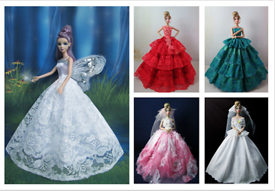 Handmade Party Dress/Evening Clothes/Gown Doll Dress Clothes for 11inch Barbie