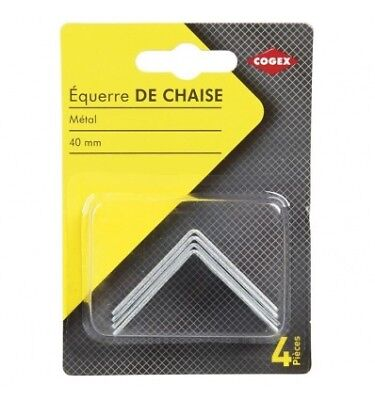 COGEX Equerre de chaise - 40 mm - 4 pcs
