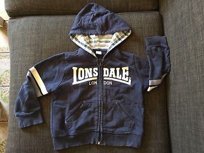 Lonsdale London Baby Boy Hoody Jacket Size 1