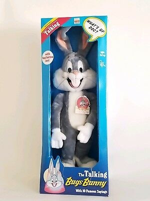"Bugs Bunny Talking Warner Brothers 18"" 1990 in box great shape"