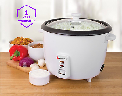 1L Automatic Electric Rice Pressure Cooker Pot Warmer Multi Function Glass Lid