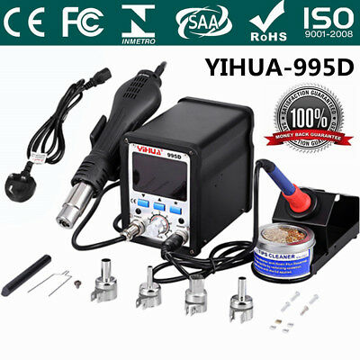 Soldering Station YIHUA 995D 2In1 Hot Air Soldering Iron Repair Desoldering Tool