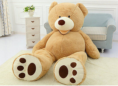 160cm Giant Big Teddy Bear Plush Soft Toy Doll Shell Cover Zipper 63'' No cotton