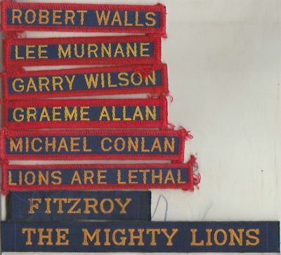 Afl  Fitzroy  Football Club Players  Duffle Coat Name Tags