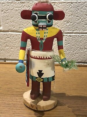 "Vintage, 1950's Traditional Hopi Katsina /Kachina Cottonwood 8"" Red Ogre"