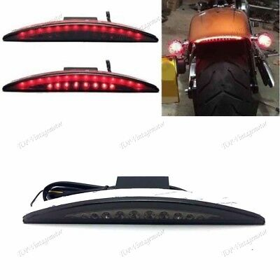 Motor  Rear LED Fender Tip Brake Tail Light For Harley Dyna Fat Bob Smoke XL TP