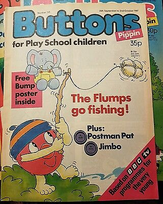 BUTTONS COMIC 26th September 2nd OCTOBER NO.313 - with poster