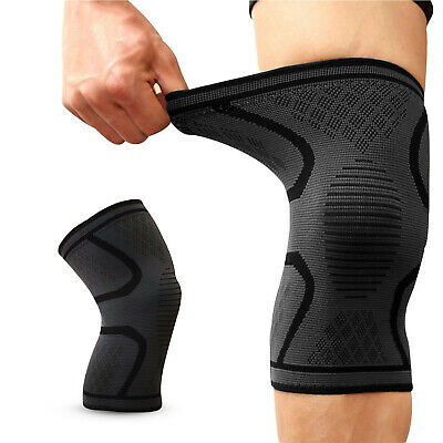 Knee Compression Sleeve Support Brace Strap Patella Leg Protector Running Sports