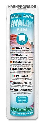 Madeira Stickvlies  AVALON FILM - transparent Artikelnr. 9440 (Rolle 30cm x 10m)