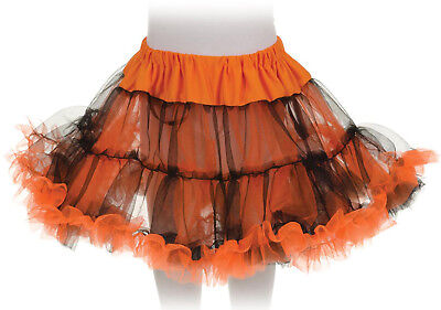 Tutu Petticoat Costume Skirt Child: Orange & Black One Size Fits Most