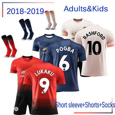2018-2019 Football Kits Soccer Jersey Training Suits Shirts For Adults Kids SML