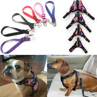 Dog Pet Car Seat Safety Nylon Belt Lead/Harness Adjustable Travel Pet Supplies