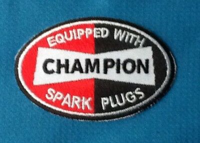 Champion Spark Plugs embroidered cloth  patch D030803