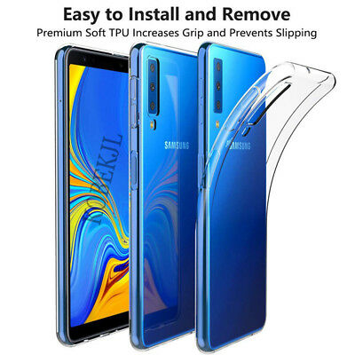 Transparent Crystal Clear Case For Samsung Galaxy A7 2018 A750 Soft TPU Cover @Y