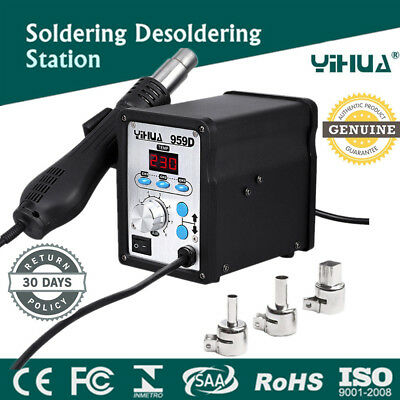 700W YIHUA 959D Soldering Iron Station Hot Air Gun SMD Rework Station Welding