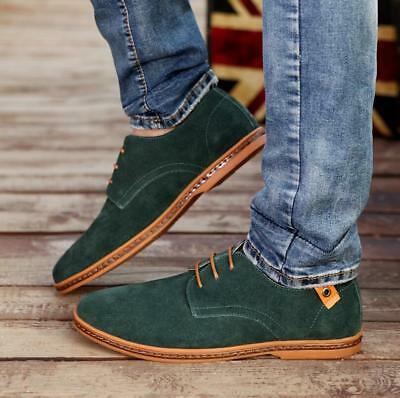 Men Suede Derby Casual Pointed Toe Lace-up Flats Formal Business Dress  Shoes