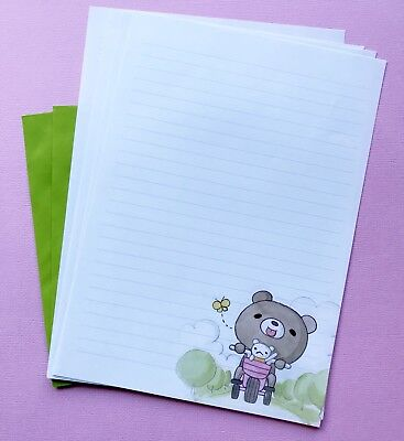 Cute Little Bear Letter Set/ Writing Note Paper Scrapbook /planner /journal