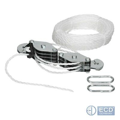 Cable pulley set 180 kg lifting cord cargo strong rope hook throttle winch set