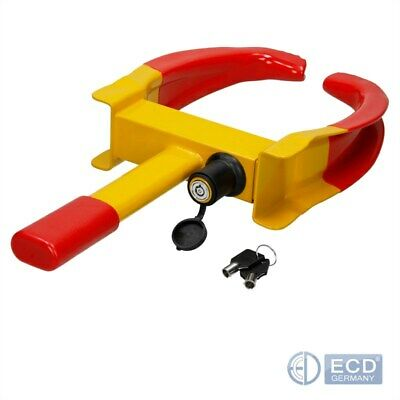 Heavy duty wheel clamp anti theft lock caravan trailer security claw with keys