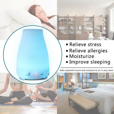 200ml 7LED Aroma Essential Oil Diffuser Ultrasonic Air Mist Humidifier fragrance