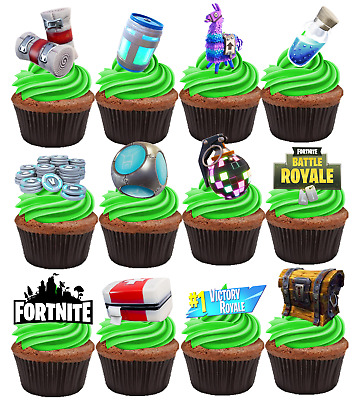 Fortnite Edible Cupcake Cake Toppers Decorations #234