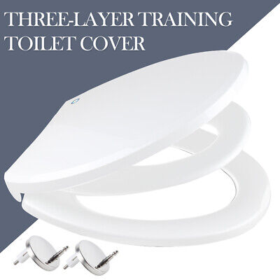 Family Child Friendly Soft Close Toilet Seat Potty Training Easy Clean Seat