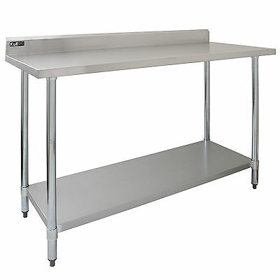 Merveilleux Commercial Premium Bench Table 5FT Stainless Steel Work Catering Prep  Surface