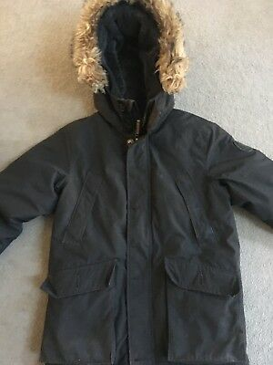Boys Gap Cozy Down Black Parka Size Large