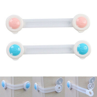 Adhesive Child Kids Baby Safety Lock Door Drawers Cupboard Cabinet Fridge