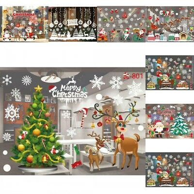 Christmas Snowflake Decals Show Window Glass Wall Stickers Vinyl Art Xmas Decor