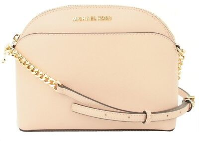 3c930a395551 Michael Kors Emmy Pastel Pink Leather Chain CrossBody Bag Small Handbag RRP  £220