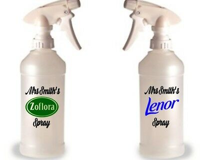 Mrs Hinch inspired, Vinyl Decal Stickers For Spray Bottle Zoflora Lenor Cleaning