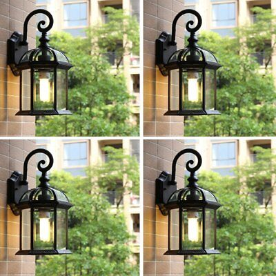 4pcs Outdoor Wall Sconce Lantern Lamp Chimney Porch Lighting Exterior Fixture MA
