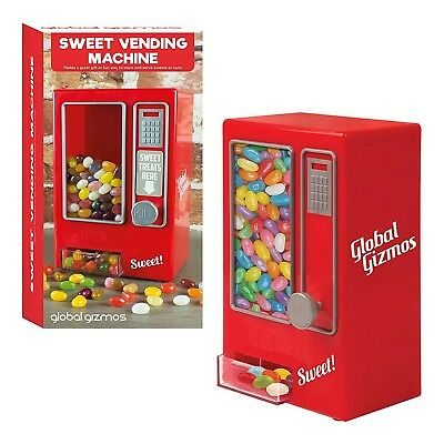 Red Retro Style Mini Sweet Vending Machine Vintage Toy Candy Arcade Jelly Bean