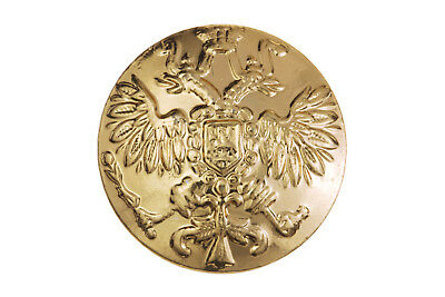 10 Big Russian Official Uniform Buttons Imperial Double-Headed Eagle Golden
