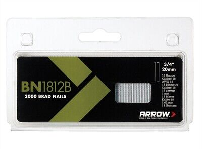 Arrow BN1812B Brad Nails 20mm Brown Head Pack 2000