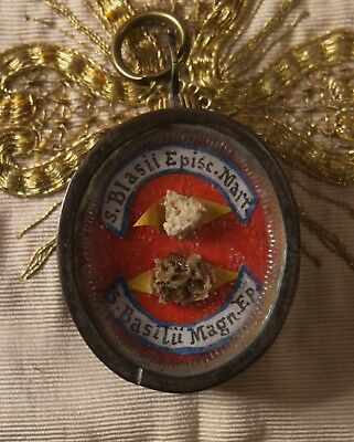 shrine relicario relic reliquary  ST.BASIL THE GREAT ST.BLAISE BISHOP reliquien
