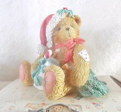 "Enesco Cherished Teddies, Dec 1993, Denise, ""Happy Holidays Friend"" 914878, w/CA"