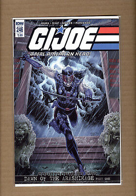 GI JOE A Real American Hero #246 - Female Snake Eyes IDW COMICS 2018  VF/NM