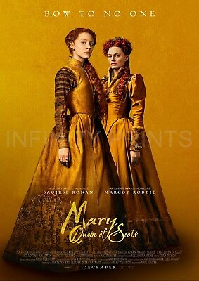 Mary Queen of Scots Movie Film Poster A2 A3 A4