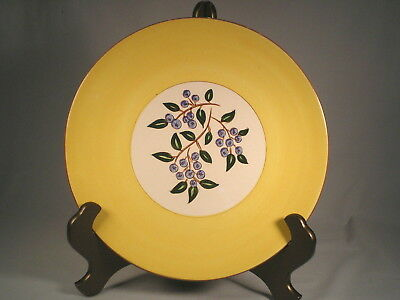 """Vintage Stangl Blueberry w Yellow ~Chop/Cake/Platter/Serving Plate 12.75"""""""
