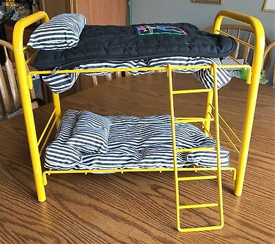 American Girl Bunk Bed Set Yellow Original Pleasant Co Vintage