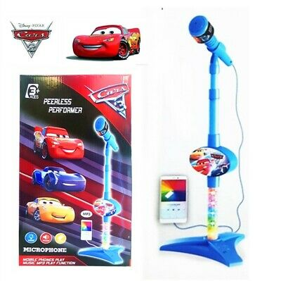 Disney Pixar Cars Mcqueen Musical Instrument Microphone Kids Boy Educational Toy