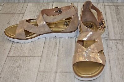 91afb9e804 Sofft Mirabelle Metallic Leather Gladiator Sandals, Women's Size 7M, Platino