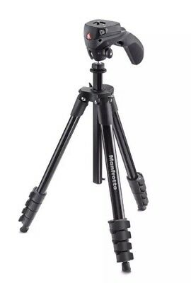 "Manfrotto 60"" Compact Action Tripod Joystick Head Black MKCOMPACTACN-BK MKCOMPAC"