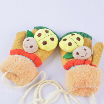Boys Girls Baby Kid Children Gloves Knitted Winter Warm Full Finger Mittens LH