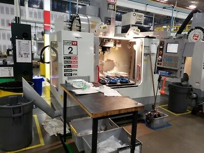 Used Haas VF-2SS CNC Vertical Machining Center Mill 12,000 RPM 4th Ready Super S